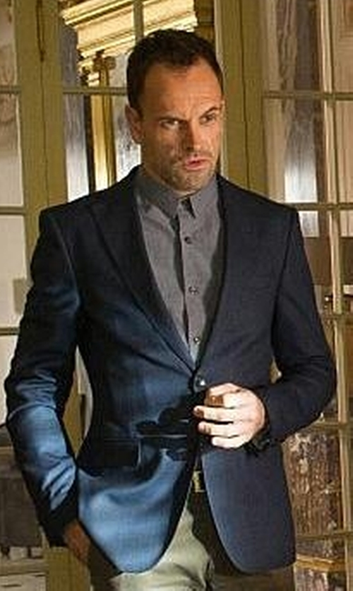 Jonny Lee Miller with Cego Sea Island Cotton Button Shirt in Elementary