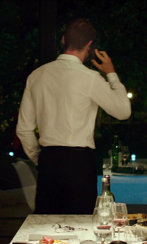 Ed Skrein with Stefano Ricci Basic French-Cuff Dress Shirt in The Transporter: Refueled