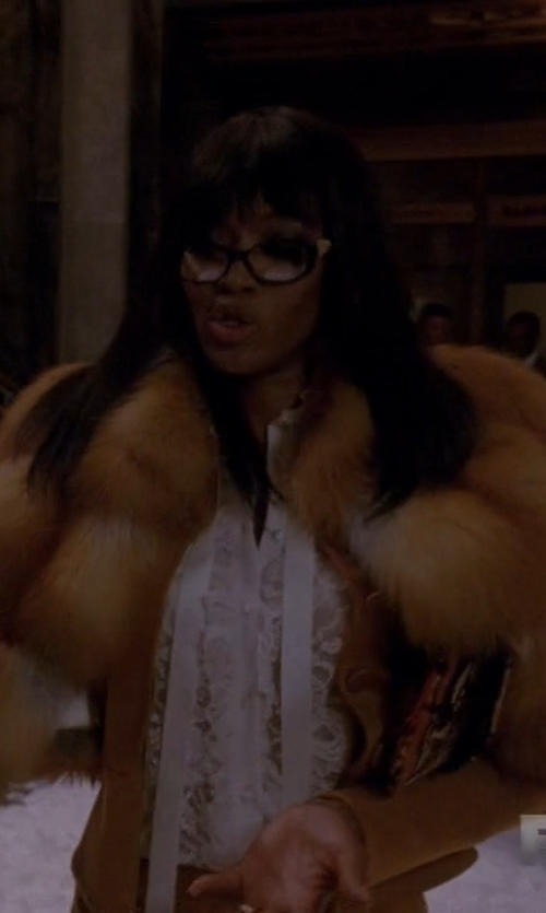 Naomi Campbell with Asos Collection Vintage Faux Fur Coat in American Horror Story