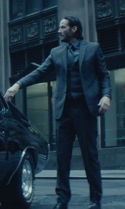 Keanu Reeves with Luca Mosca (Costume Designer) Custom Made Three-Piece Suit in John Wick