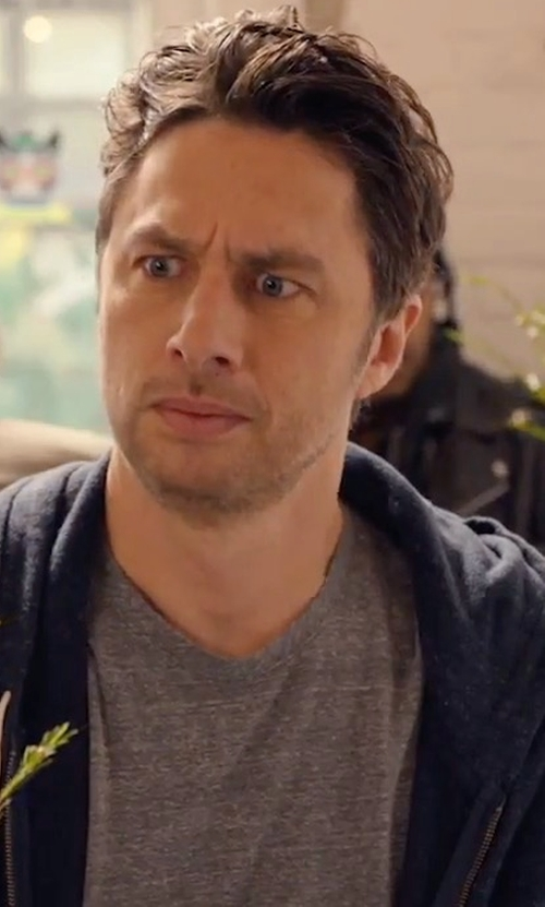 Zach Braff with Lacoste Slub Fleece Zip-Front Hoodie in Alex, Inc.