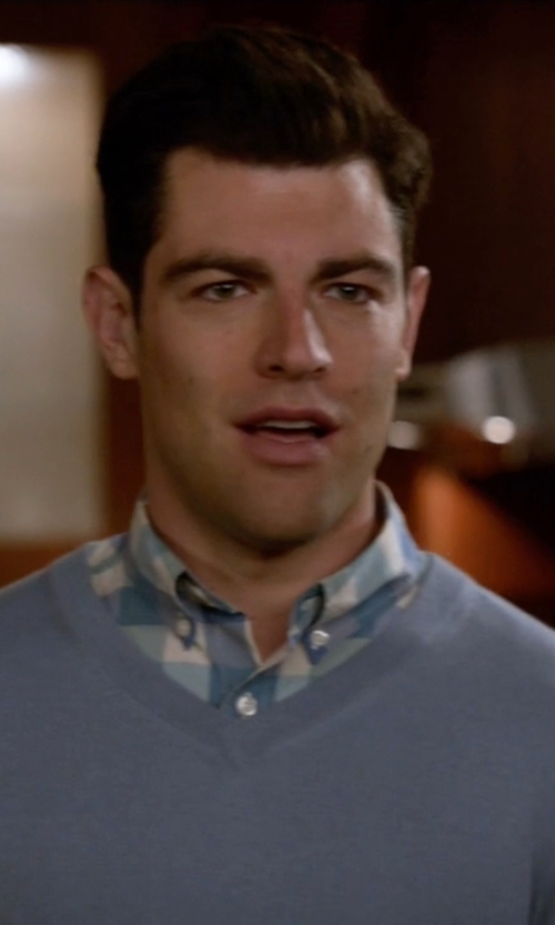Max Greenfield with Vineyard Vines 'Putnam Plaid Whale' Sport Shirt in New Girl