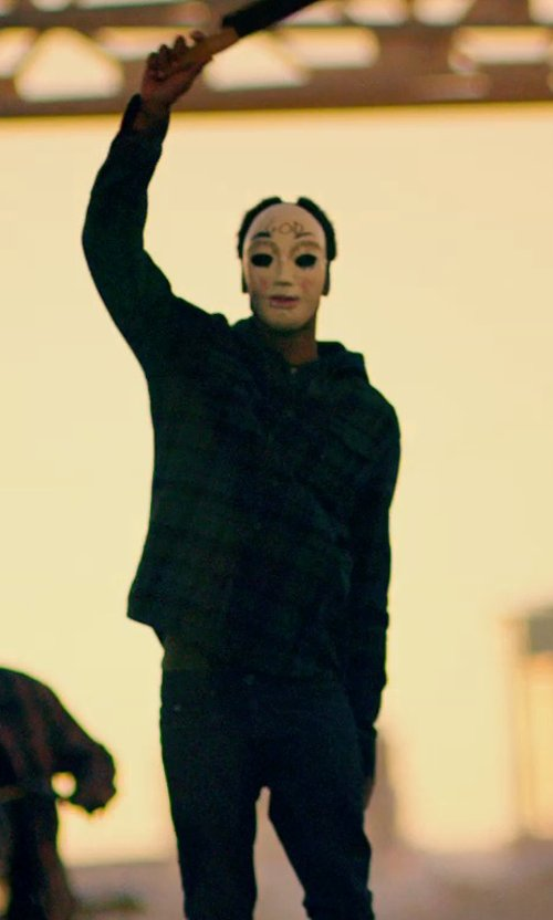 Unknown Actor with Naked & Famous Skinny Guy Jeans in Raw Stretch Denim in The Purge: Anarchy