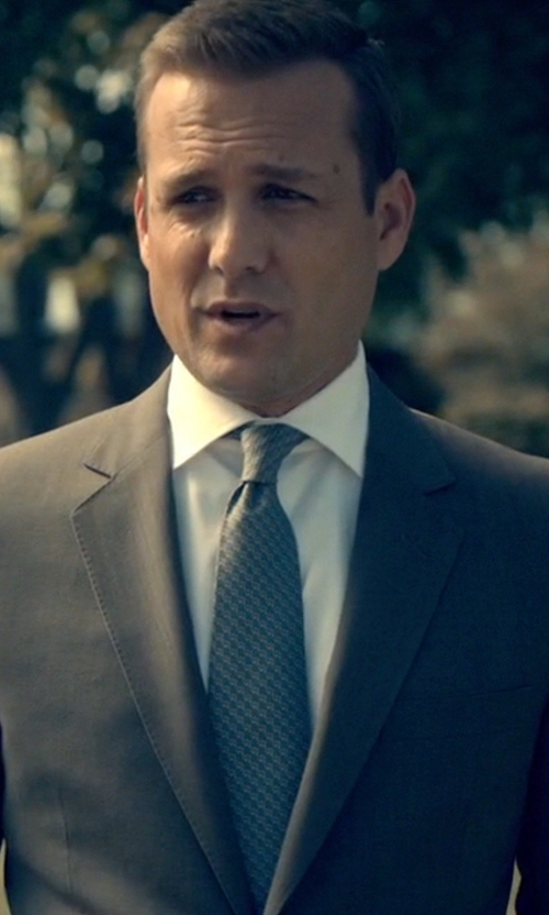 Gabriel Macht with Gucci Pattern Silk Tie in Suits
