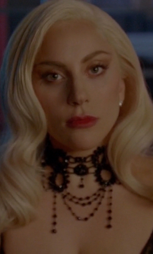 Lady Gaga with Alpenflustern Bavarian Traditional Pearl Necklace in American Horror Story