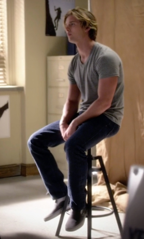 Drew Van Acker with Vans Classic Canvas Slip-On Sneakers in Pretty Little Liars