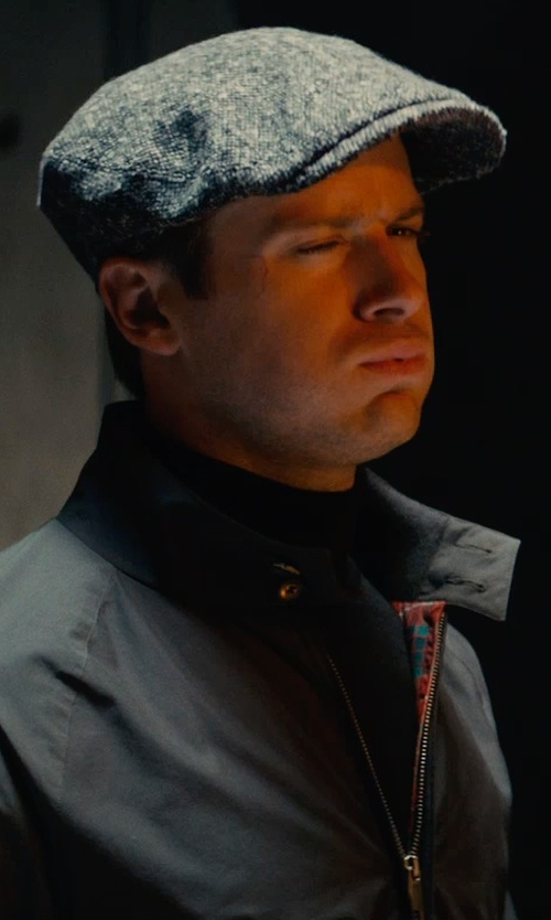 Armie Hammer with Baracuta G9 Classic Harrington Jacket in The Man from U.N.C.L.E.