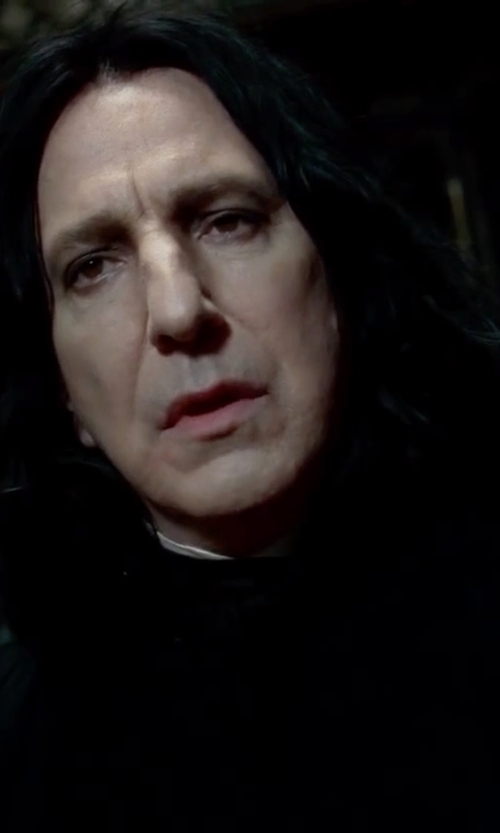 Alan Rickman with Jany Temime (Costume Designer) Custom Made Snape Costume in Harry Potter and the Deathly Hallows: Part 2