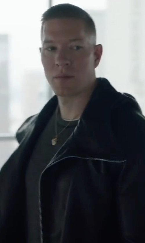 Joseph Sikora with Bonobos The Leather Bomber Jacket in Power