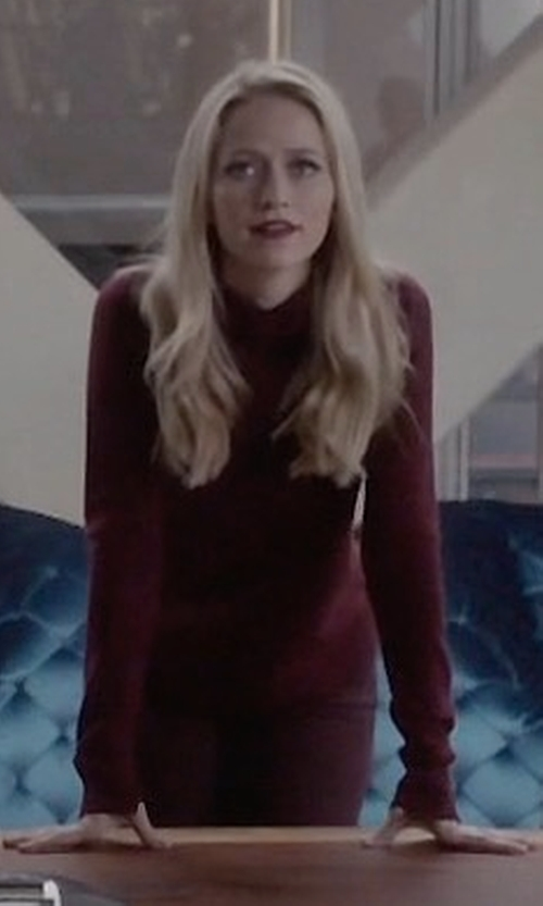 Johanna Braddy with Whistles Harper Mock-Neck Sweater in Quantico