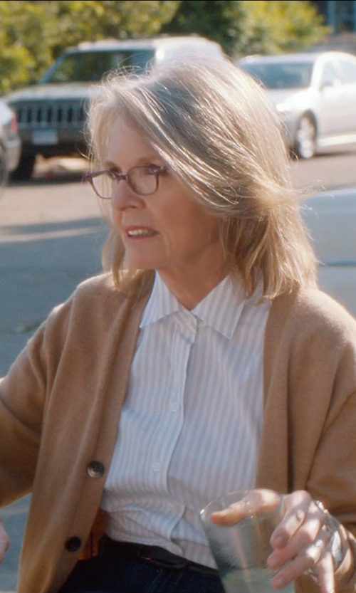 Diane Keaton with +People Pin Striped Shirt in And So It Goes