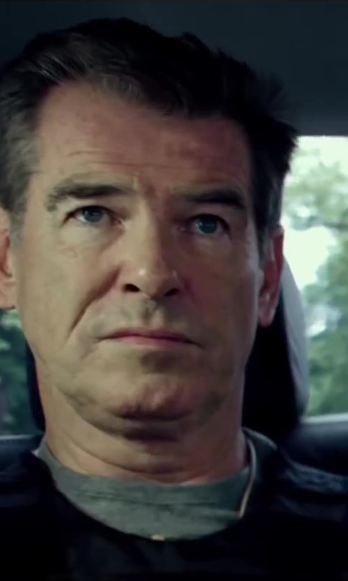 Pierce Brosnan with Rag & Bone Garment Dye T-Shirt in The November Man