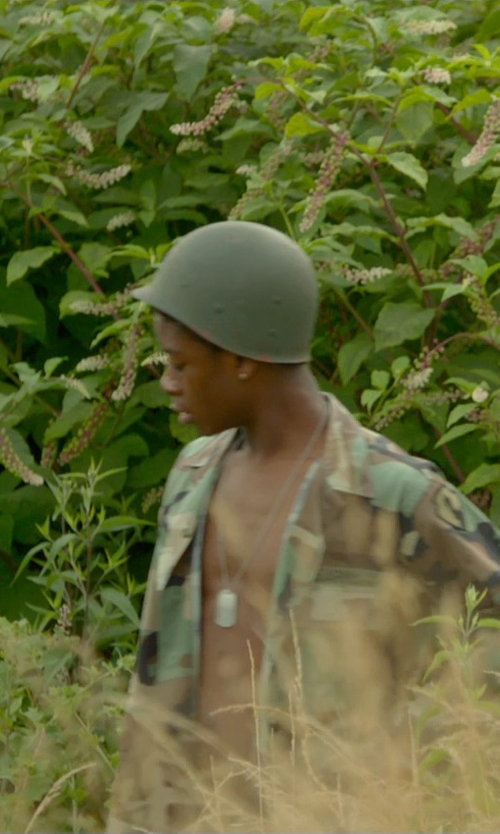 RJ Cyler with Forum Novelties Men's Adult Army Hat Costume Accessory Helmet in Me and Earl and the Dying Girl