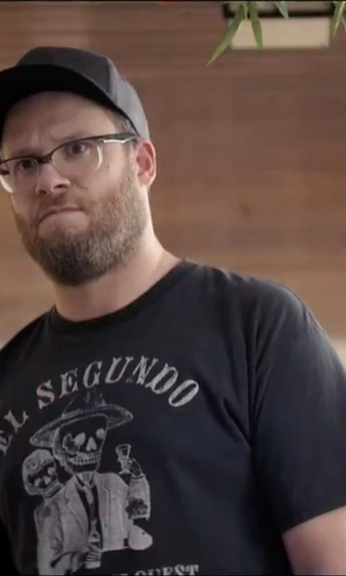 Seth Rogen with A Tribe Called Quest El Segundo T-Shirt in Neighbors 2: Sorority Rising