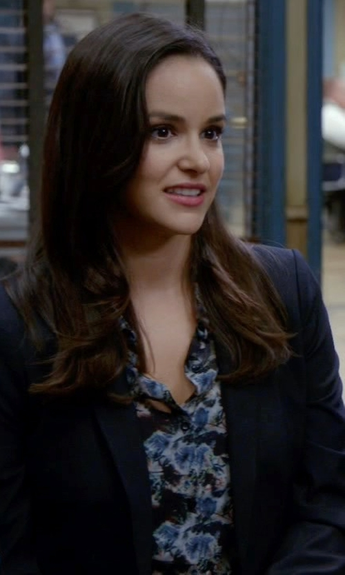 Melissa Fumero with J.Crew Campbell Blazer in Brooklyn Nine-Nine