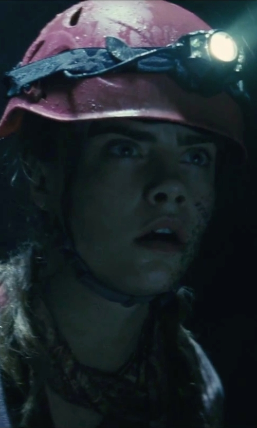 Cara Delevingne with Charm and Hammer Women's Ratchet Vented Pink Hard Hat in Suicide Squad