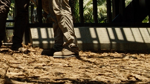"Omar Sy with Chippewa 8"" Brown Tan Soft Toe Work Boot in Jurassic World"