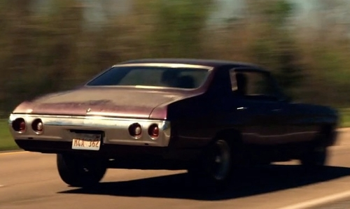 Dominic Cooper with Chevrolet 1972 Chevelle Coupe in Preacher