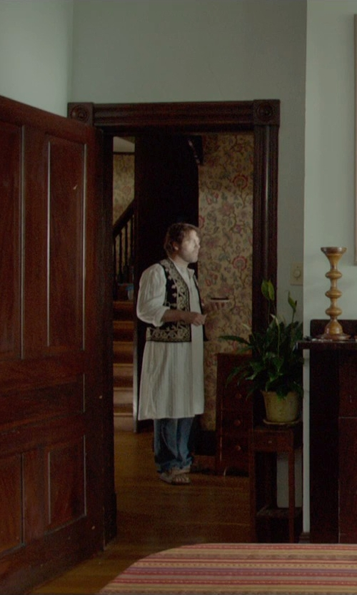 Nick Offerman with Yoga Trendz Indian Embroidered Outerwear Vest in Me and Earl and the Dying Girl