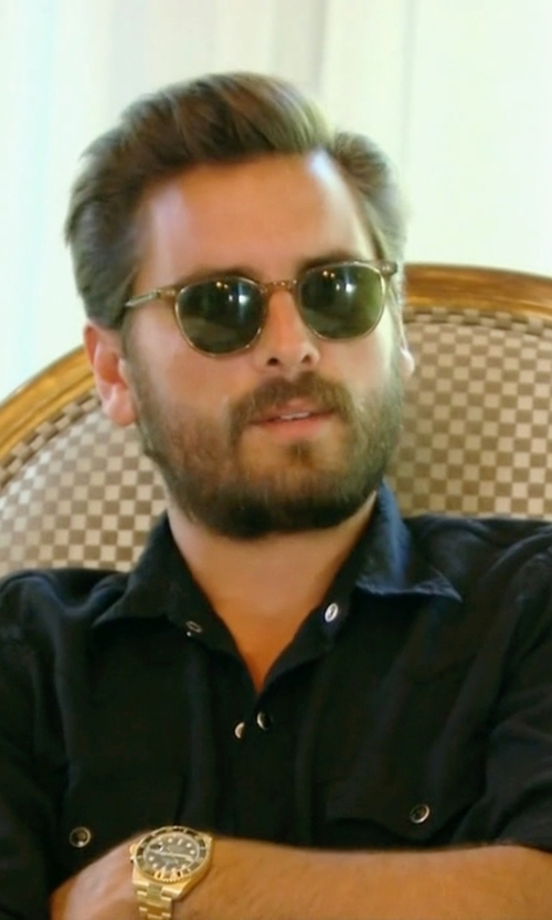 Scott Disick with Saint Laurent Western Long-Sleeve Shirt in Keeping Up With The Kardashians
