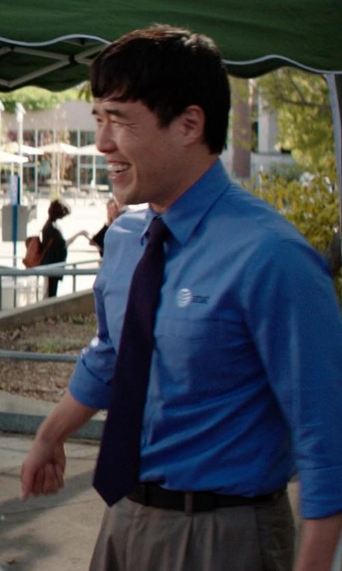 Randall Park with Calibrate Woven Silk Tie in Neighbors