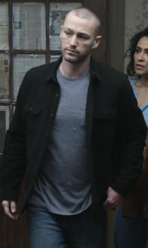 Jake McLaughlin with Rolla's Denim Jacket in Quantico