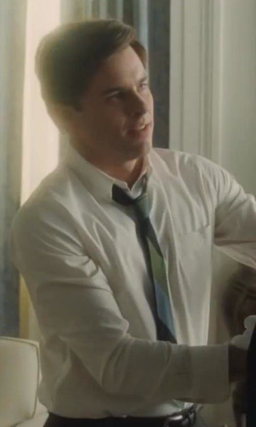 James Marsden with Thom Browne Multicolored Mixed-Stripe Pattern Neck Tie in Lee Daniels' The Butler
