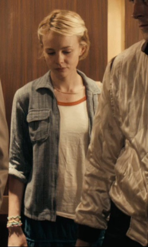 Carey Mulligan with A&E Designs Upscale Short Sleeve Ringer T-Shirt in Drive