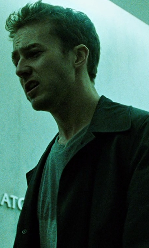 Edward Norton with Jack Spade 'Lawrence' Cotton Crewneck T-Shirt in Fight Club