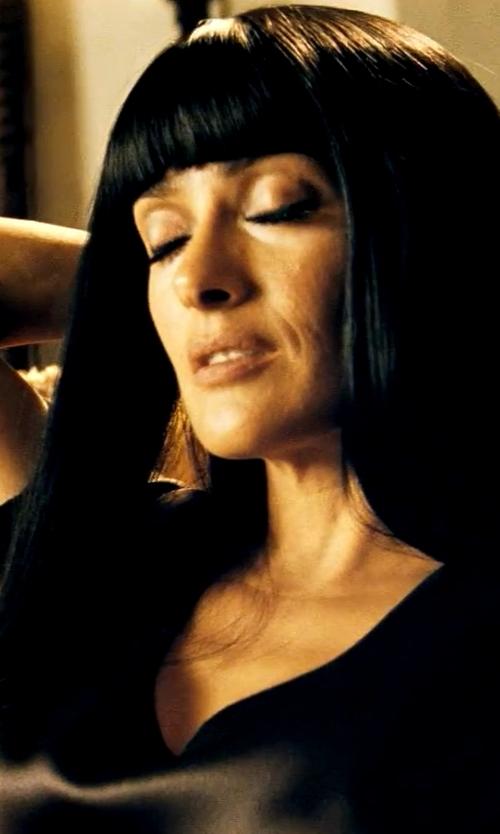 Salma Hayek with Zero + Maria Cornejo 'Toia' Dress in Savages
