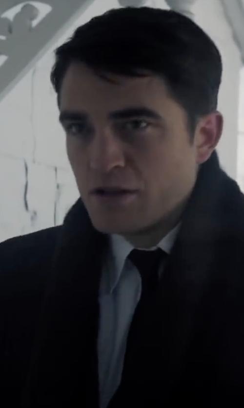 Robert Pattinson with John Varvatos Star Usa Wool & Silk Tie in Life