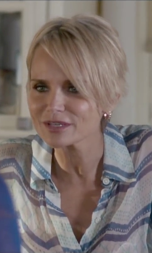 Kristin Chenoweth with Jude Frances Diamond & 18K Yellow Gold Hoop Earrings in The Boy Next Door
