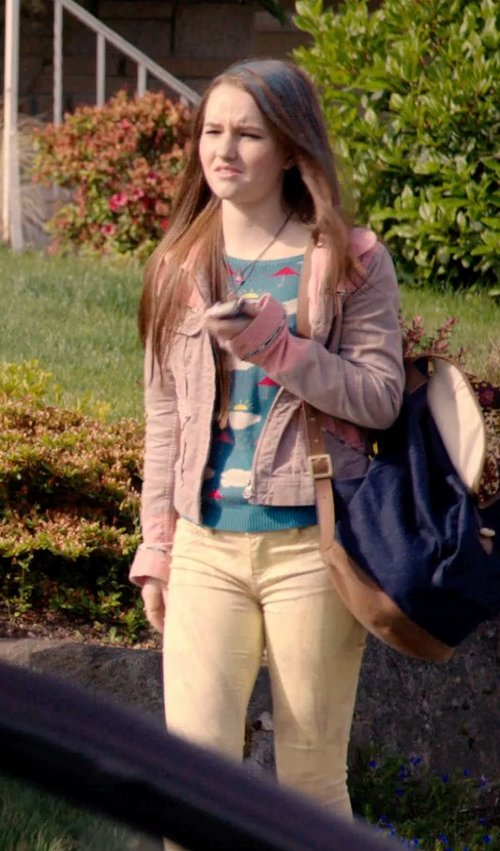 Kaitlyn Dever with Acne Studios Denim Outerwear in Laggies