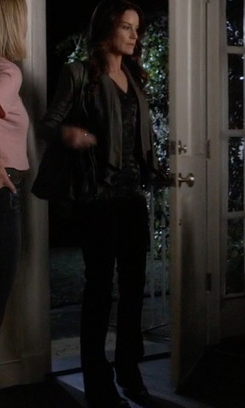 Laura Leighton with Bikkembergs Straight Leg Denim Pants in Pretty Little Liars