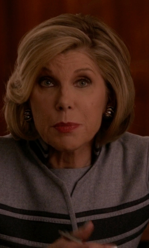 Christine Baranski with Peter Reinwald Single Breasted Blazer in The Good Wife