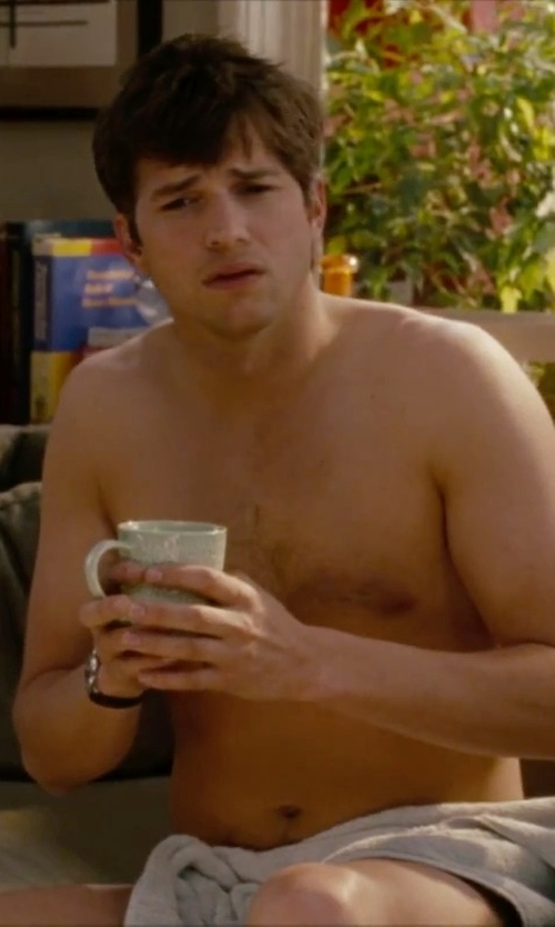 Ashton Kutcher with Lacoste Croc Bath Sheet Towel in No Strings Attached