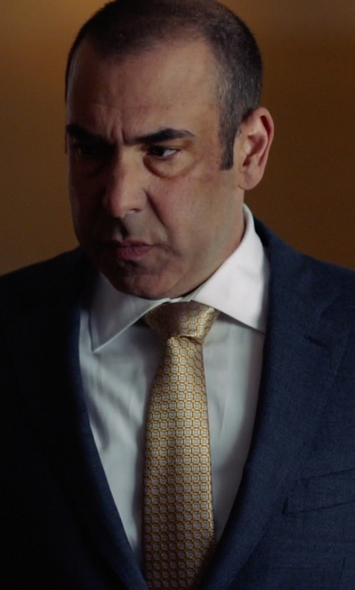 Rick Hoffman with Stefano Ricci Neat Flower Pattern Silk Tie in Suits