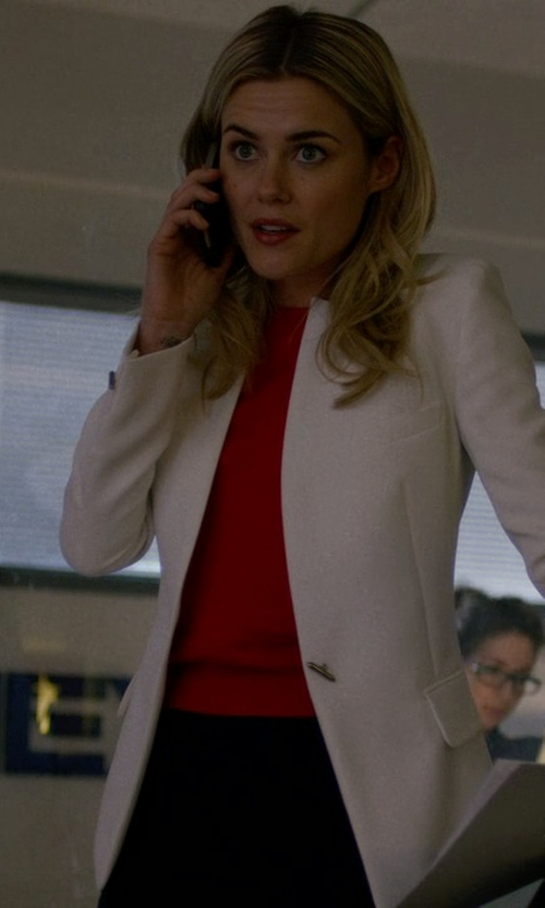 Rachael Taylor with Ann Taylor Mock Neck Sweater in Jessica Jones