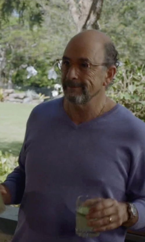 Richard Schiff with Saks Fifth Avenue Cashmere V-Neck Sweater in Ballers