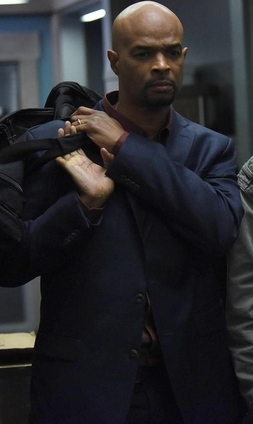Damon Wayans with Boss Hugo Boss Windowpane-Check Wool Sport Coat in Lethal Weapon