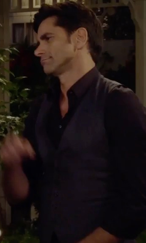 John Stamos with Carrot & Gibbs Pindot Five-Button Vest in Fuller House