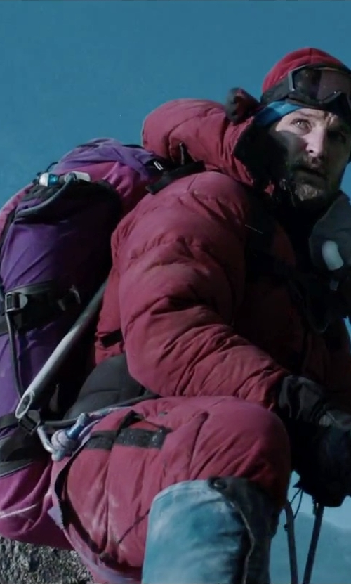 Jason Clarke with Mountain Top Outdoor Hiking Climbing Backpack in Everest