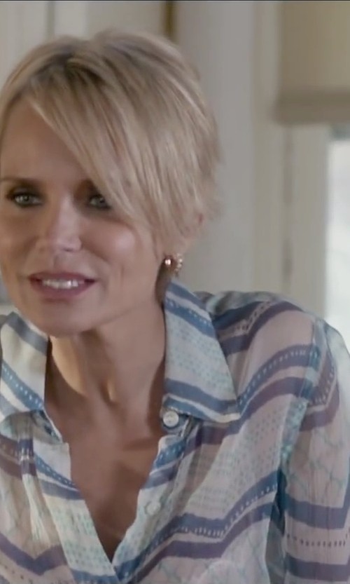 Kristin Chenoweth with Romeo & Juliet Couture Stripe Blouse in The Boy Next Door