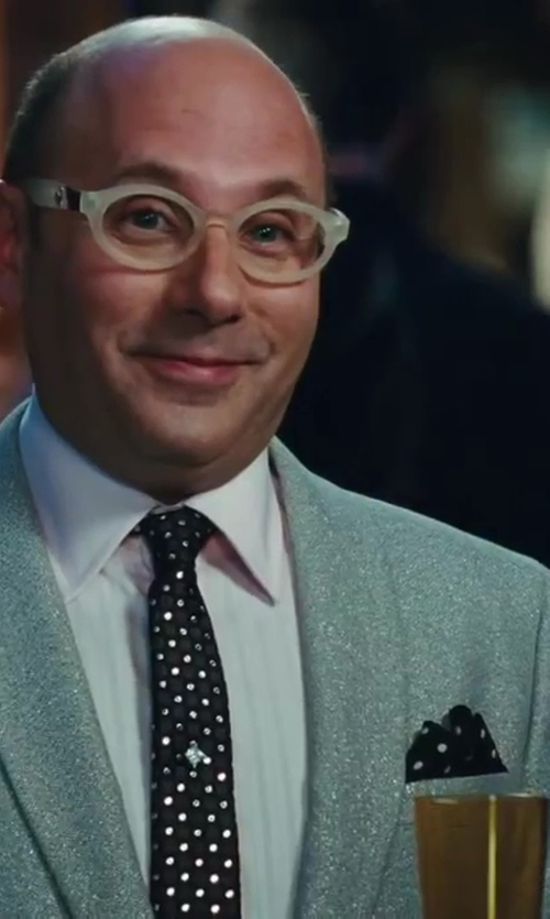 Willie Garson with Boss Hugo Boss Micro Dot Silk Pocket Square in Sex and the City 2