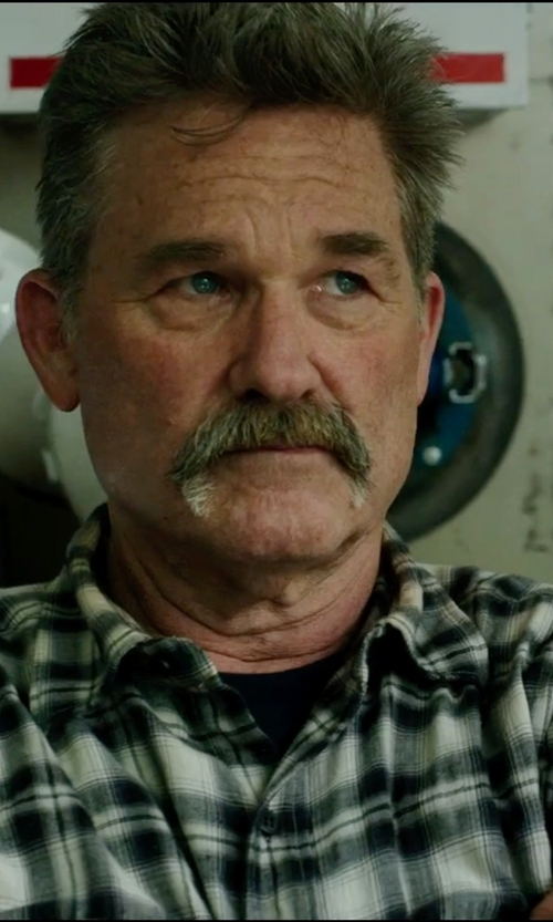 Kurt Russell with Slate & Stone Plaid Wool Blend 'Calvin' Button Down Shirt in Deepwater Horizon