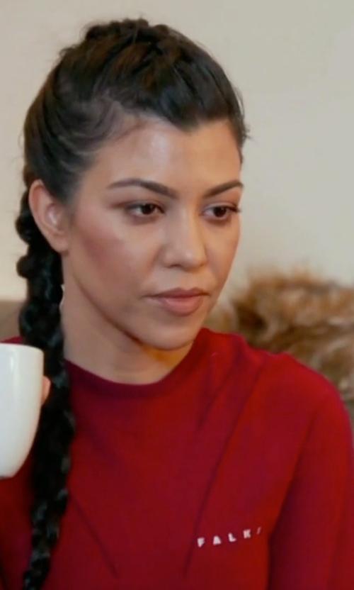 Kourtney Kardashian with Falke  Long Sleeved Shirt Air Insulation Top in Keeping Up With The Kardashians