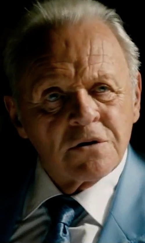 Anthony Hopkins with Salvatore Ferragamo Butterfly Silk Tie in Collide