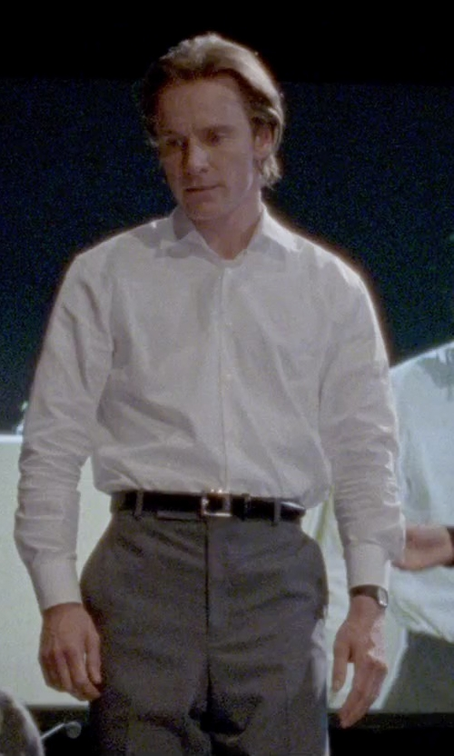 Michael Fassbender with Givenchy Star Studded Belt in Steve Jobs