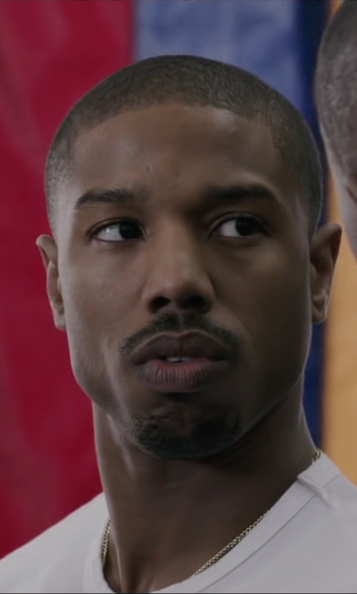 Michael B. Jordan with Vince Crew Neck T-Shirt in Creed