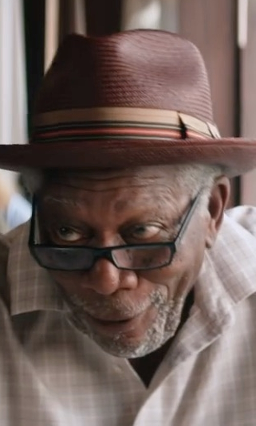 Morgan Freeman with Saks Fifth Avenue Collection Wool Felt Hat in Going In Style